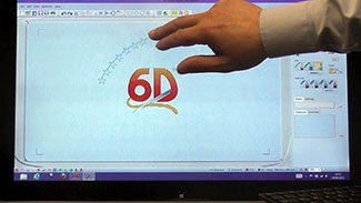 6D™ Embroidery Gestures on a Touchscreen